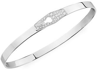 Dinh Van Serrure 18K White Gold & Diamond Bangle Bracelet