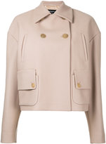 Rochas cropped fitted jacket - women - Polyamide/Cupro/Cashmere/Wool - 42