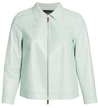 Lafayette 148 New York, Plus Size Nash Zip Leather Jacket