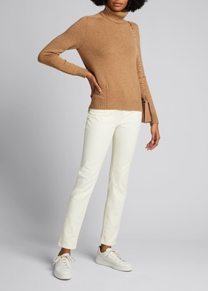 Loro Piana Baby Cashmere Cable-Knit Detail Turtleneck