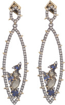 Alexis Bittar Crystal Encrusted Gemstone Cluster Dangling Post Earring with Spike Accent