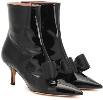 Rochas Patent leather ankle boots