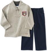 Kids Headquarters Baby Boys' 2-Pc. Shawl-Collar Top & Pull-On Pants Set