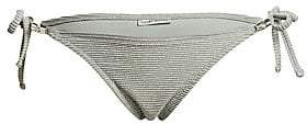 Heidi Klein Women's Ribbed Shimmer Side-Tie Bikini Bottoms