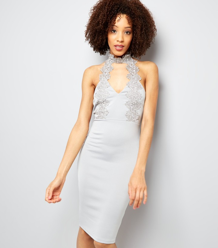 Thumbnail for your product : New Look AX Paris Lace Choker Neck Dress