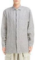 Yohji Yamamoto Men's Stripe Linen Shirt