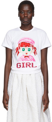 COMME DES GARÇONS GIRL White Cotton Girl T-Shirt
