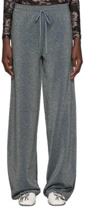 Lanvin Blue Lurex Lounge Pants