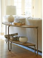 Universal Furniture Moderne Muse Console Table in Bisque Finish