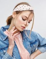 Asos Heart Print Hair Twist Headband
