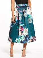 Closet Floral Full Midi Skirt