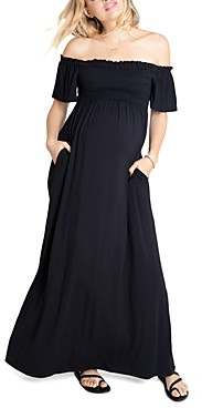 Ingrid & Isabel Off-the-Shoulder Maxi Maternity Dress