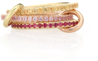Spinelli Kilcollin Aurora MX 18kt yellow and rose gold ring