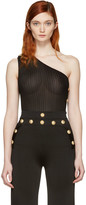 Balmain Black Single-Shoulder Tank Top