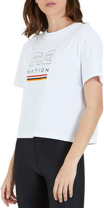 P.E Nation Ignition Graphic Cropped Tee