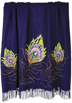 Jay Strongwater Peacock Feather Throw