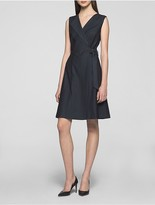 Calvin Klein Denim Side Tie Dress