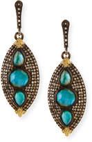 Armenta Old World Marquis Opal & Diamond Earrings