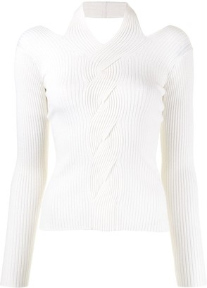 Jonathan Simkhai Cable Knit Cut-Out Jumper
