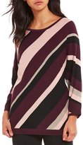 Allison Daley Wide Crew Neck 3/4 Dolman Sleeve Pullover