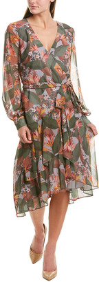 Badgley Mischka Wrap Dress