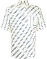 MSGM contrast striped-print shirt