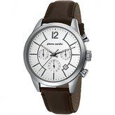 Pierre Cardin Men's 43mm Chronograph Brown Leather Quartz Date Watch pc106591f02
