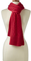 Lands' End Women's Cashmere Cable Scarf-Bigfoot