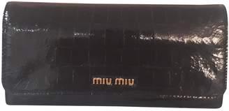 Miu Miu Black Patent leather Wallets