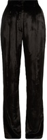 ADAM by Adam Lippes Panne high-rise velvet trousers