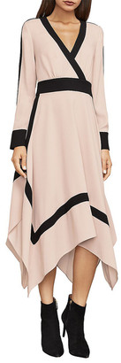 BCBGMAXAZRIA Bambi Colorblocked Wrap Dress
