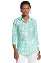 Chico's Effortless Linen Batik Sina Shirt