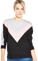 Very Colour Block Sweat Top in Multi Size 14