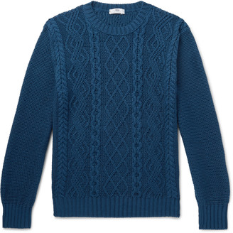Inis Meáin Cable-Knit Organic Pima Cotton Sweater