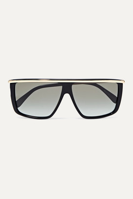 Givenchy D-frame Gold-tone And Acetate Sunglasses - Black