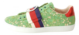 Gucci Ace Green Lace Trainers