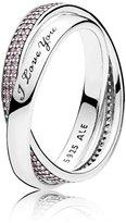 Pandora Ring 196546PCZ-54 Women Silver Zirconia Promise