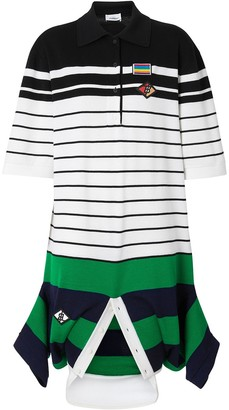 Burberry Logo Graphic Wool Reconstructed Polo Shirt Dress
