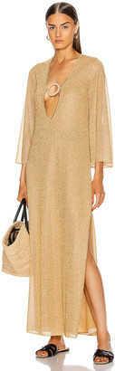 Oseree Kaftan Ring Dress in Gold | FWRD