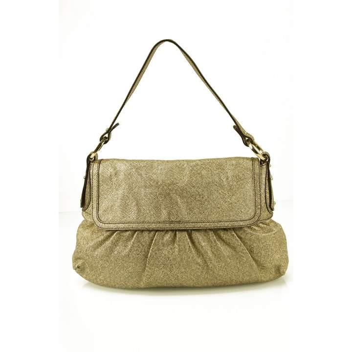 Fendi Gold Leather Handbag