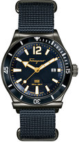 Salvatore Ferragamo Men's Swiss Sport Marine Blue Canvas Strap Watch 44mm FF3210015