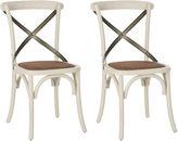 Safavieh White Bonnie Chairs, Pair