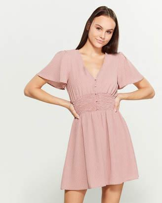As U Wish Flutter Sleeve Mini Dress
