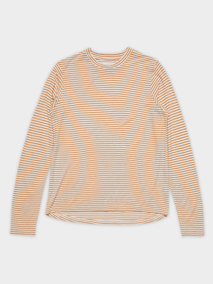 Nude Lucy Phobe Stripe Long Sleeve T-Shirt in Orange White