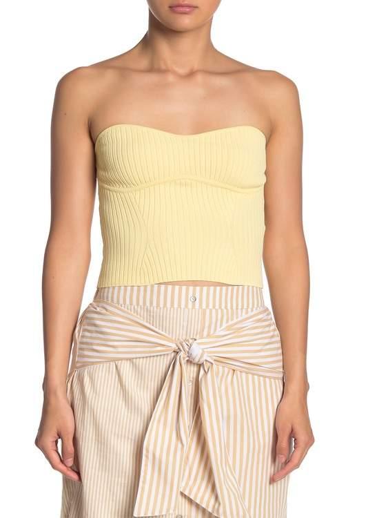 Line & Dot Lorina Strapless Sweater Top