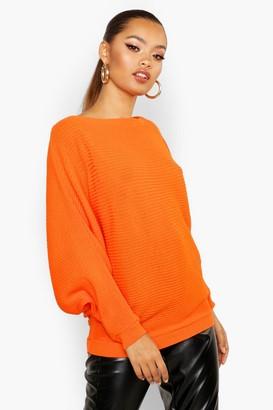boohoo Oversized Rib Knit Batwing Sweater