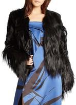 Halston Mixed Fur Coat
