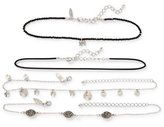 New York & Co. Multi-Row Charm Choker Necklace Set