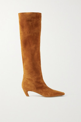 KHAITE Suede Knee Boots - Light brown