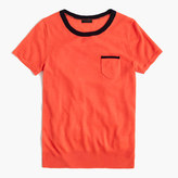 J.Crew Italian featherweight cashmere tipped pocket T-shirt